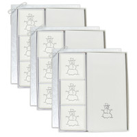Signature Spa Courtesy Gift Set - Silver Snowman (Set of 3)