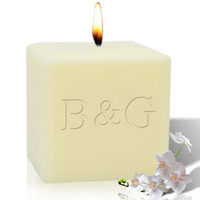 "4"" Soy Pillar Candle - Initial & Initial"