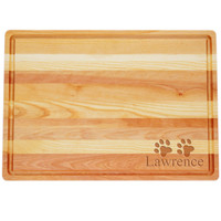 "Large Master Cutting Board 20"" X 14.5"" - Personalized Paws"