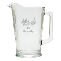 PERSONALIZED PINE TREES PITCHER  (GLASS)