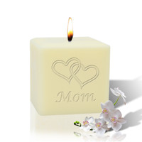 "3"" Soy Pillar Candle - Hearts for Mom"