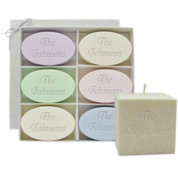 "Holiday Gift Set: Signature Spa Inspire Soaps, 4"" Pure Aromatherapy Palm Wax Candle"