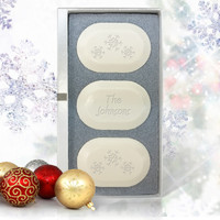 Eco-Luxury Trio - Christmas Snowflakes Personalized!