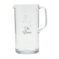 PERSONALIZED REINDEER PITCHER  (Unbreakable)