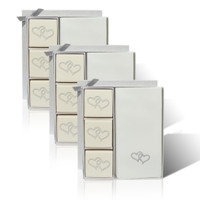 Eco-Luxury Courtesy Gift Set - Double Heart with Silver (Set of 3)