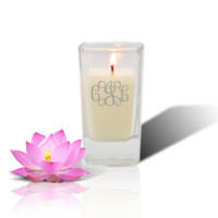 Soy Glass Votive Candle - Personalized