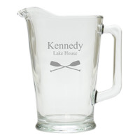 PERSONALIZED OARS PITCHER  (GLASS)