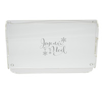 JOYEUX NOEL SERVING TRAY WITH HANDLES