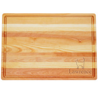 """Large Master Cutting Board 20"""" X 14.5"""" - Personalized Cat"""