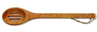"15"" Slotted Cherry Wooden Spoon - Mixed with Love"