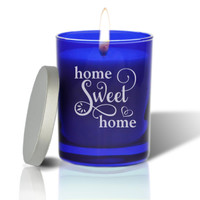 Sapphire Soy Glass Candle - Home Sweet Home