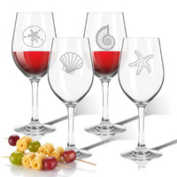 Tritan Wine Stems 12 oz (Set of 4) : Shells Collection