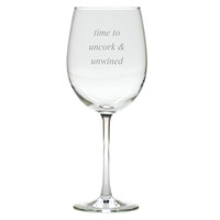 UNCORK AND UNWINED WINE STEMWARE - SET OF 4 (GLASS)