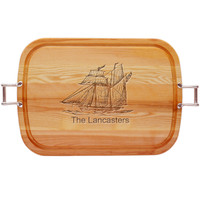 """EVERYDAY COLLECTION: 21"""" x 15"""" LARGE TRAY URBAN HANDLES PERSONALIZED SHIP"""