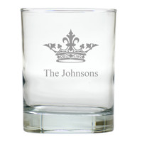 PERSONALIZED CROWN OLD FASHIONED - SET OF 6 GLASS