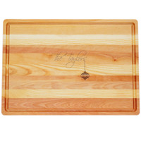 """Large Master Cutting Board 20"""" X 14.5"""" - Personalized Ornament"""