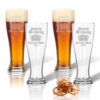 PERSONALIZED OLD ENGLISH BREWERY : PILSNER GLASS - SET OF 4
