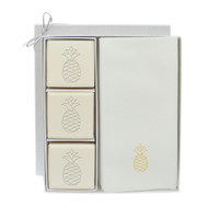Eco-Luxury Courtesy Gift Set - Gold Pineapple