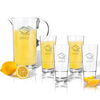 Entertaining Set: Tritan Pitcher and High Ball Glasses 16 oz (Set of 4): Graduation 2017