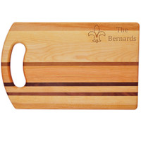"Integrity Bread Board 14"" X 9"" - Personalized Fleur De Lis"