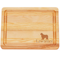 "Small Master Cutting Board 10"" X 7.5"" - Personalized Dog Silhouette"