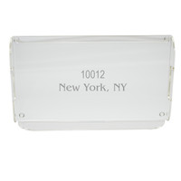 Personalized Acrylic Serving Tray - Zip Code