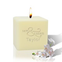"3"" Soy Pillar Candle - Mr & Mrs"