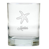 PERSONALIZED STARFISH OLD FASHIONED - SET OF 6 GLASS