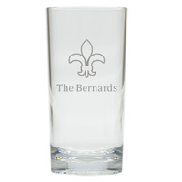 PERSONALIZED FLEUR DE LIS HIGHBALL: SET OF 4 (Unbreakable)