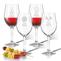 Tritan Wine Stems 12 oz (Set of 4) : Sports Variety  with name