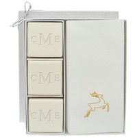 Eco-Luxury Courtesy Gift Set - Monogram and Gold Deer