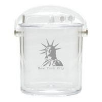 Insulated Ice Bucket with Tongs - American Landmark