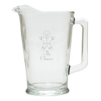 PERSONALIZED GINGERBREAD MAN PITCHER  (GLASS)