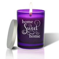 Amethyst Soy Glass Candle - Home Sweet Home