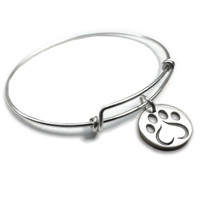 Love Paw Forever Charm Bangle