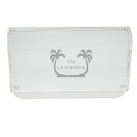 Personalized Acrylic Serving Tray - Palm Trees