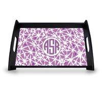Personalized Serving Tray - Lavender Circle Monogram