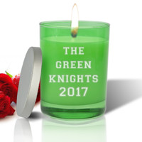 Emerald Soy Glass Candle - Personalized for Teacher