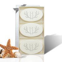 Signature Spa Trio - Verbena: Antler with Single Initial