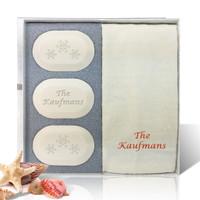 Eco-Luxury Gift Set - Christmas Snowflakes Personalized!