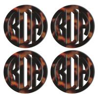 Tortoise Acrylic Coaster, Set of 4