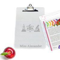 "Personalized Acrylic 10"" x 14"" Clipboard : SCIENCE"