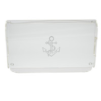 Acrylic Serving Tray - Anchor
