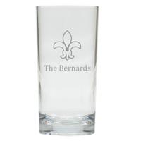 PERSONALIZED FLEUR DE LIS COOLER: SET OF 6 (Glass)