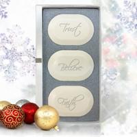 Ashley Jones Eco Luxury Trio Trust, Believe, Faith