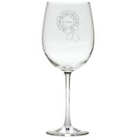 PERSONALIZED NAME WREATH WINE STEMWARE - SET OF 4 (GLASS)