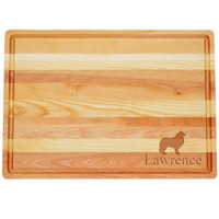 "Large Master Cutting Board 20"" X 14.5"" - Personalized Dog Silhouettes"