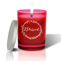Ruby Soy Glass Candle - Blessed