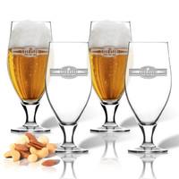 SET of 4 16oz CERVOISE GLASSES (Banner)