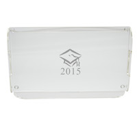 Personalized Acrylic Serving Tray - Graduation Cap with Date